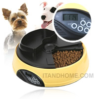 ����ͧ���������ѵ�����-��� �ʹԨԵ��-������ͧ Automatic Pet Feeder with LCD Display-Yellow