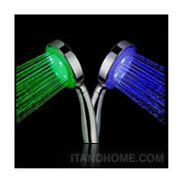 �ѡ��� LED ����¹�յ���س����Թ�� ����ͧ���ҹ 3 Color LED Shower head Light